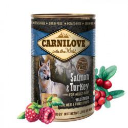Carnilove Adult Dog Pate Somon și Curcan 400 g