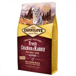 Carnilove Cat Fresh Pui și Iepure 2 kg