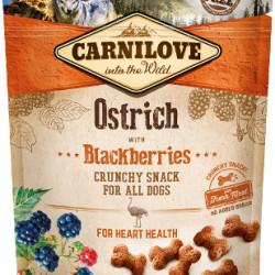 Carnilove Crunchy Snack cu struț și mure 200 g