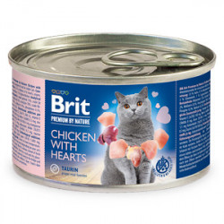 Conservă Brit Premium by Nature Cat Pui și Inimi 200 gr