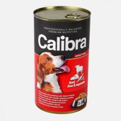 Conservă Calibra Dog Ficat de Vită și Legume în aspic 1240 gr