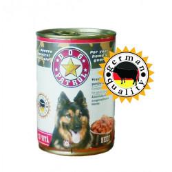 Hrana umeda pentru caini Dog Patrol Adult cu vita 415 g