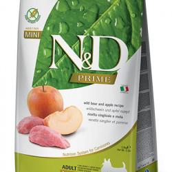 N&D Prime Adult Mini Dog Mistreț și Măr 2.5 kg