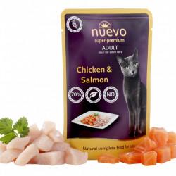 Nuevo Cat cu pui și somon 85 gr