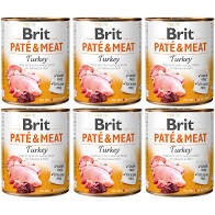 Pachet Economic Brit Pate and Meat Curcan 6 x 800 gr