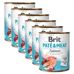 Pachet Economic Brit Pate and Meat Somon 6 x 800 gr