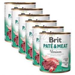 Pachet Economic Brit Pate and Meat Vânat 6 x 800 gr