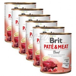 Pachet Economic Brit Pate and Meat Vită 6 x 800 gr