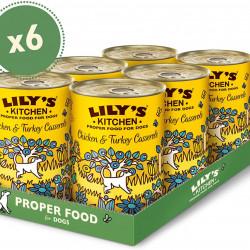 Pachet Lily's Kitchen Dog Chicken and Turkey Casserole 6x400 g