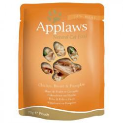 Applaws CAT hrană umedă cu piept de pui și dovleac în sos 70 gr