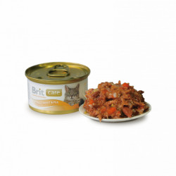 Brit Care Cat Tuna, Carrot and Peas 80 gr (conservă)
