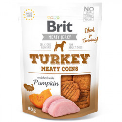 Brit Dog Jerky Turkey Meaty Coins 80 gr