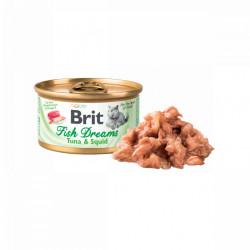 Brit Fish Dreams Ton și Calamar 80 gr (conservă)