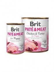 Brit Pate and Meat Puppy curcan 800 gr + 400 gr