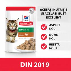 Hill's SP Kitten hrana pentru pisici cu curcan 85 g (pliculeț)