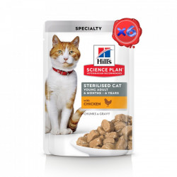 Hill's SP Young Adult Sterilised cu Pui 6 x 85 g