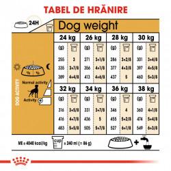 Hrana uscata caini ROYAL CANIN Boxer Adult tabel de hranire