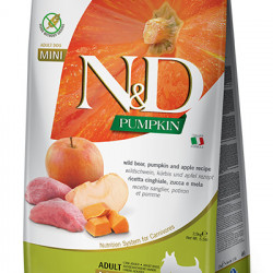 N&D Dog Grain Free Adult Mini Pumpkin cu Mistreț și Măr 2,5 kg