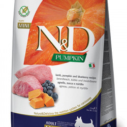 N&D Dog Grain Free Pumpkin Mini Adult Miel si Afine 2,5 kg