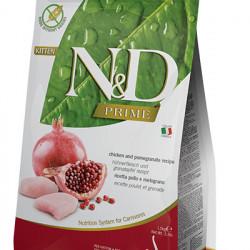 N&D Prime Grain Free Kitten Pui și Rodie 10 kg