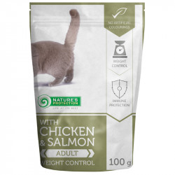 NATURES PROTECTION Cat Weight Control with Chicken & Salmon (100g)