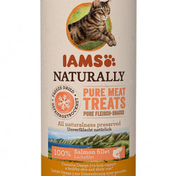 Recompensa pisici IAMS Cat Freeze Dried cu Somon