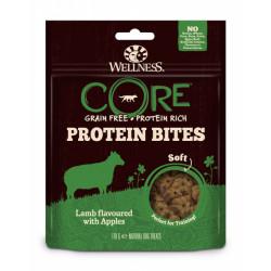 Recompense pentru caini Wellness Core Protein Bites Soft cu miel si mere 170 g