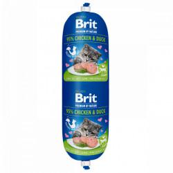 Salam Brit Cat cu pui și rață 180 gr (baton)