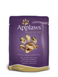 Applaws CAT hrană umedă cu piept de pui și orez sălbatic în sos 70 gr