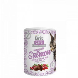 Brit Care Cat Sterilised Snack Superfruits Salmon 100 gr