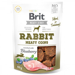 Brit Dog Jerky Rabbit Meaty Coins 80 gr