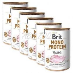 Brit Mono Protein Iepure 6 x 400 gr (conserva)