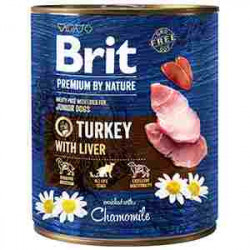 Brit Premium by Nature Junior Curcan și ficat 800 gr
