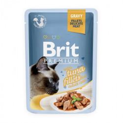 Brit Premium Cat Delicate Fileuri de Ton în Sos 85 gr (pliculeț)