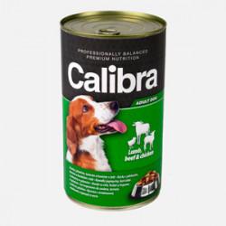 Conservă Calibra Dog Vită, Miel și Pui în aspic 1240 gr