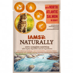 IAMS Naturally Adult Cat cu Somon
