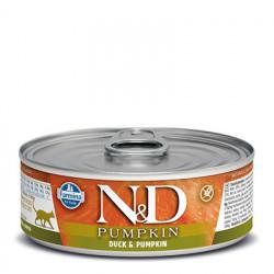 N&D Cat Pumpkin cu rață și dovleac 80 gr