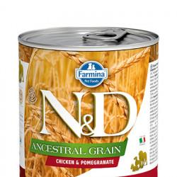 N&D Low Grain cu pui și rodie 285 gr