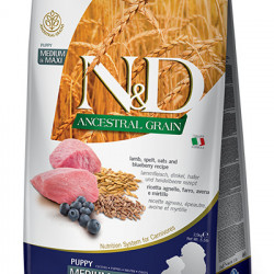 N&D Low Grain Medium & Maxi Puppy Miel și Coacăze 2.5 kg