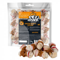 PET'S DESSERT LSC-50(2) KNOTED BONE & CHICKEN - PUNGA 500 Gr