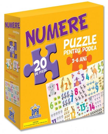 Numerele ( puzzle podea 50/70 + afis 50/70 )