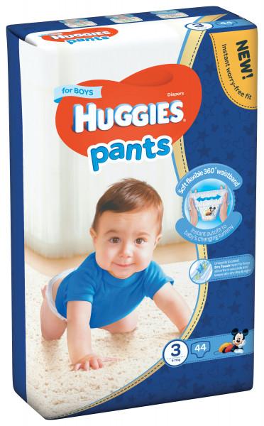 Scutece-chilotel Huggies Jumbo Pack, Nr.3, Baieti, 6-11 kg, 44 buc