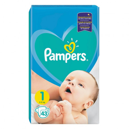 Pampers New Baby - nr.1, 43 buc