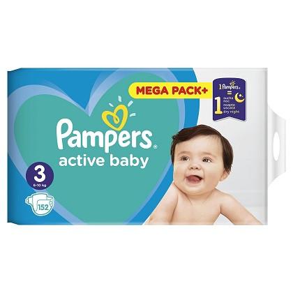 Scutece Pampers Active Baby 3 Junior Mega Box 152 buc