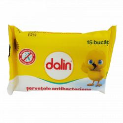 Dalin Servetele Antibacteriene pocket, 15 buc