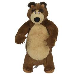 Jucarie de plus Masha and the Bear, Bean Bag Bear in picioare 25 cm