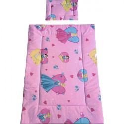 Lenjerie patut Hubners Princess 4 piese roz