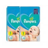 Pachet 2 x Scutece Pampers New Born - nr.1, 43 buc (86 buc)