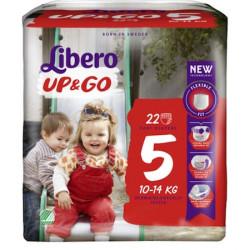 Scutece-chilotel Libero UP&GO, Nr.5, Maxi+, 10-14kg, 22 buc