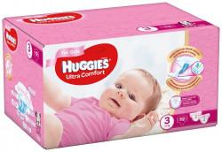 Scutece Huggies Ultra Confort BOX 3, Fete, 5-9 kg, 112 buc